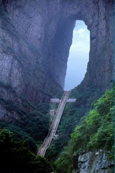 Heaven's Stairs, Tian Men Shan China