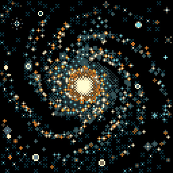 Pinwheel Galaxy by Sp8cebit