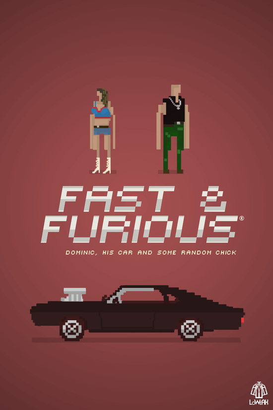 Pixel Art Fast And Furious by LoweakGraph