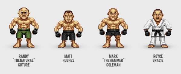 Pixel UFC Fighters by Pater Santha