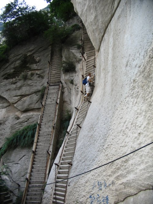Stairs at Huashan, Shaanxi, China