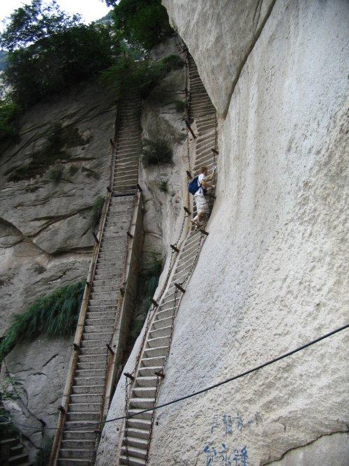 Stairs at Huashan, Shaanxi, China