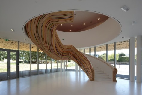 Stairs at The School of Arts - Tétrarc Architects