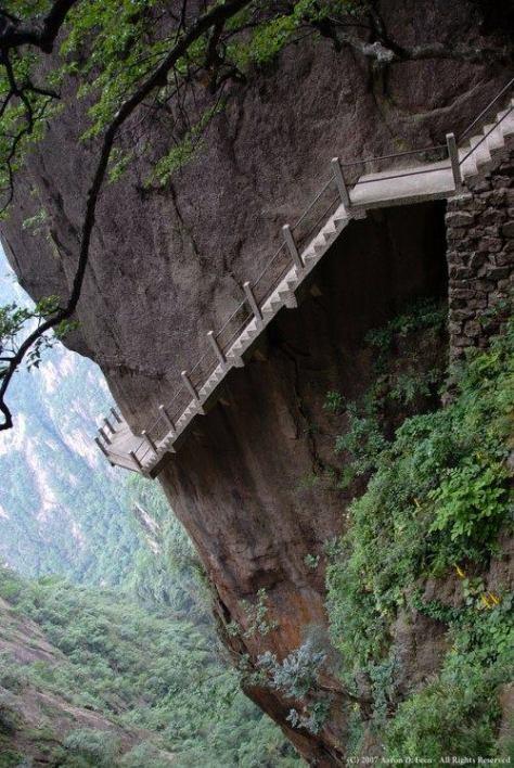 Tourist Stairway - Huangshan Mountain, China