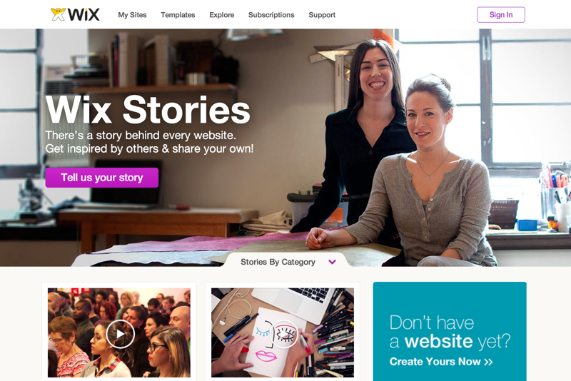 Wix Stories | Testimonials by Wix Users | WIX (20150318)