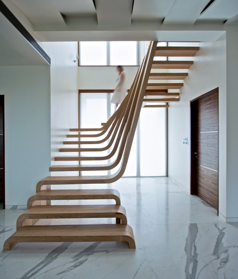 Wooden Stairs Inside a Home