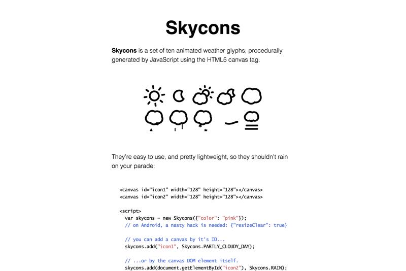 Skycons